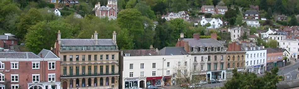 Central Malvern from Priory Tower