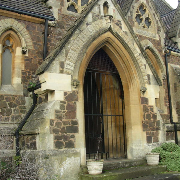 Entrance to Chapel at Malvern Cemetery