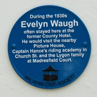 Evelyn Waugh plaque