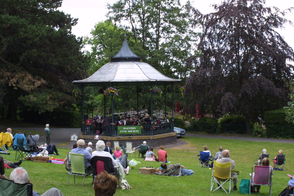 Malvern's Bandstand in Priory Park