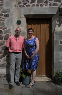 The owners of Elmslie, Anna and Bernard Taylor