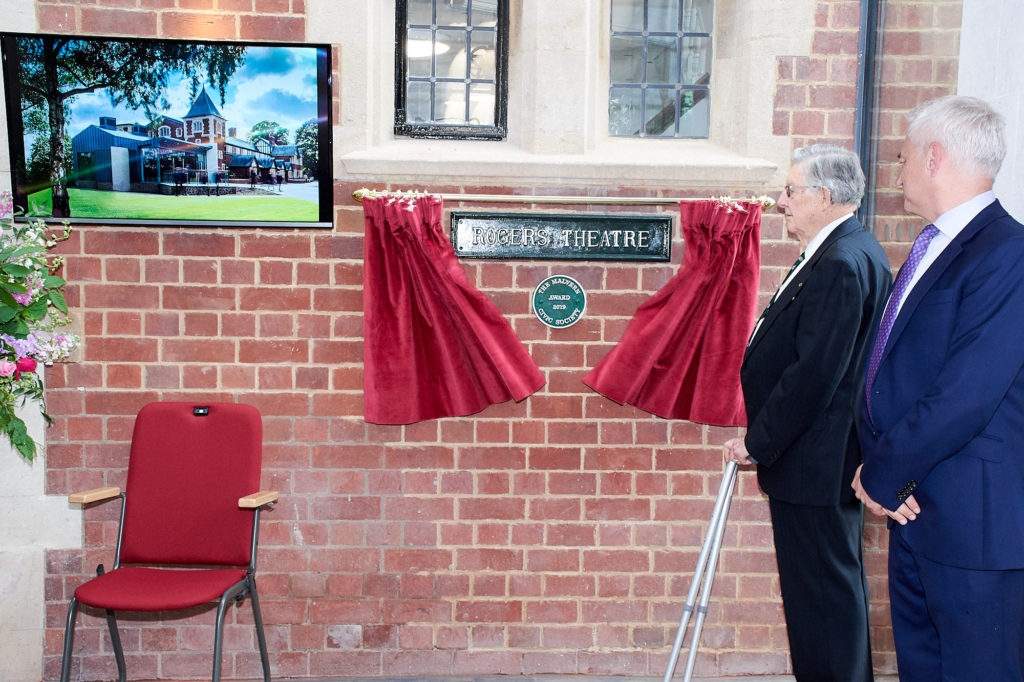 Unveiling of Civic Society Plaque by Dr John Harcup - President of Malvern Civic Society
