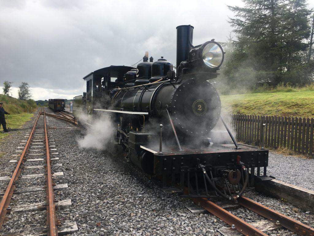 Image of steam locomotive on Brecon Mountain Railway