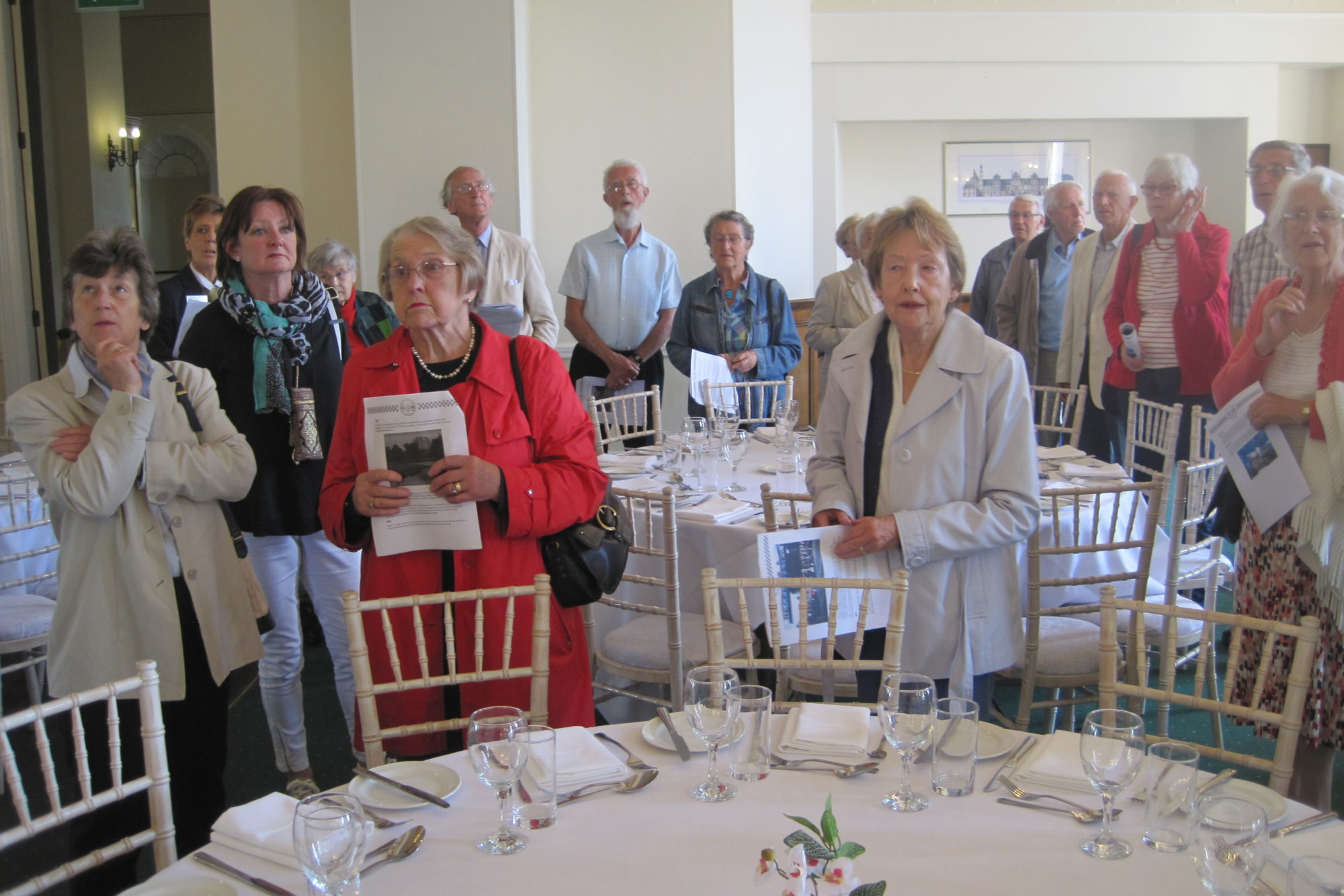 Image of Civic Society Members on a Group Tour of Chateau Impney