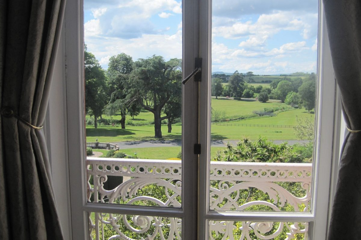 Image of the view from Corbett's bedroom at Chateau Impney