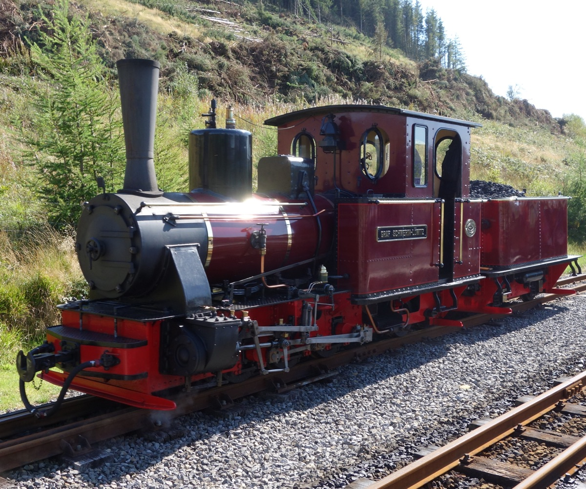 Graf Schwerin-Lowitz locomotive on Brecon Mountain Railway