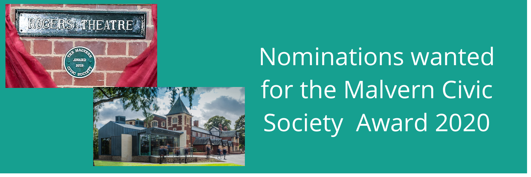 Nominations wanted for Malvern Civic Society Award 2020