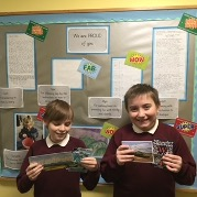 Cody Loughran, Primary School Winner and Jake Whitmore, Highly Commended Winner from The Grove School Malvern