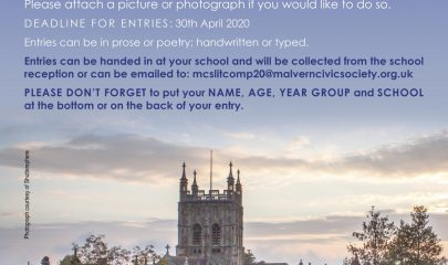 Malvern Civic Society Literary Competition 2020