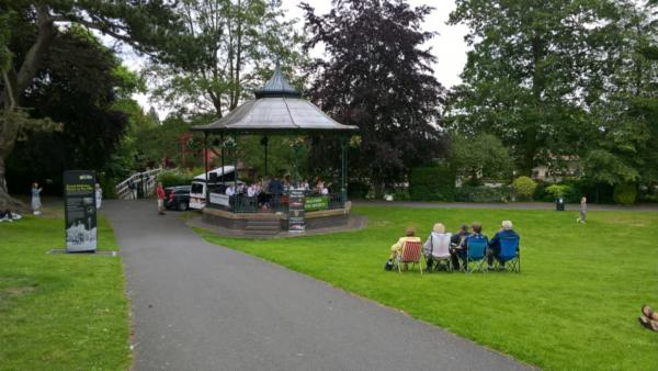 The Pillowell Silver Band from The Forest of Dean in the Bandstand
