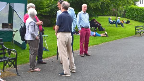 Outside the Civic Society Marquee in the Park